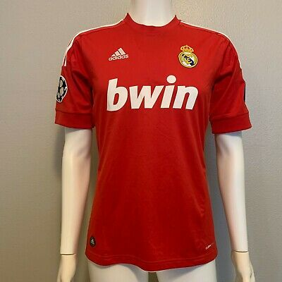 ADIDAS 100 AUTHENTIC REAL MADRID 201112 AWAY JERSEY CHAMPIONS LEAGUE SMALL