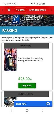 Any Six Flags Park Great Adventure Magic Mountain etc Day Parking Pass 2021