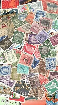 Worldwide Postage Stamps 50- Used - Mint Off Paper FREE SHIPPING