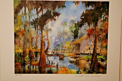 Robert Rucker Cabin In The Swamp Signed  print series 150