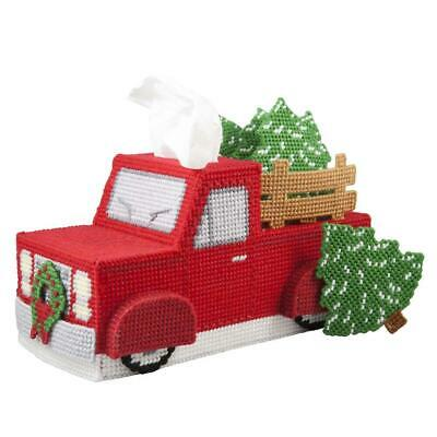 Herrschners® Vintage Red Truck Tissue Box - Coasters Plastic Canvas Kit