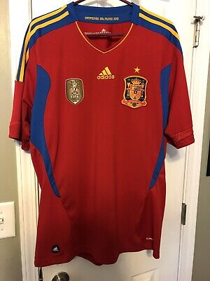Adidas Spain 2010 World Cup Champions Jersey Mens Xtra Large