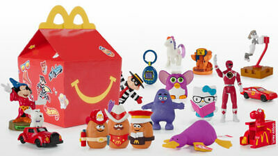 2019 McDONALDS 40th Anniversary Throwback Retro HAPPY MEAL TOYS SHIPS NOW