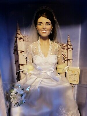 Kate Middleton Bridal Doll - Franklin Mint - 16 NRFB