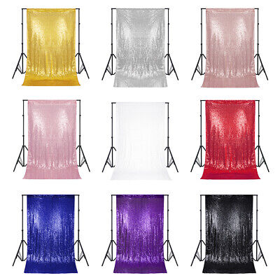 Glitter Sequin Wedding Backdrop Curtain Photo Booth Background Event Party Decor