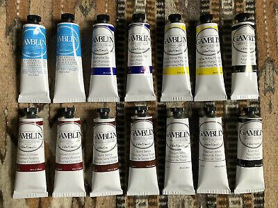⭐️LOT OF 12GAMBLIN ARTIST OIL COLORS-2SOLVENT-FREE GELBRAND NEW⭐️