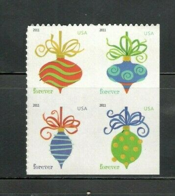 4579-82 Holiday Baubles Forever Block Of 4 Mintnh FREE SHIPPING