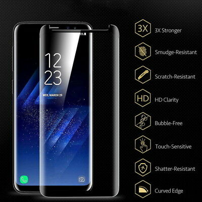 Premium Real Tempered Glass Screen Protector Samsung Galaxy  S9  S8 Plus Note 9