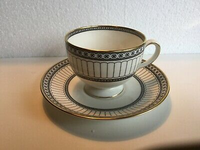 WEDGWOOD - COLONNADE - BLACK - TEA CUP - SAUCER - 12 AVAILABLE -