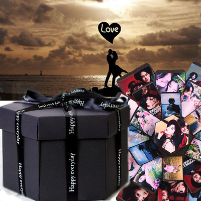 Surprise Explosion Box DIY Photo Box Love for Birthday Album Anniversary Gift US