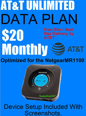 AT-T Unlimited Data Plan  35 a month  No Caps Throttle  Own Your Plan