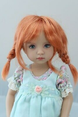 New Wig for Dianna Effner Little Darling doll Monique Tessie Dk Carrot Red 7 14