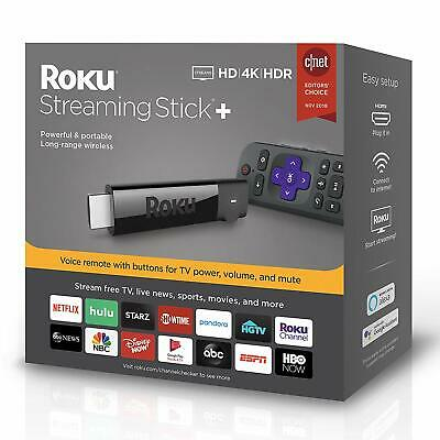 2019 Roku 4K Ultra HD HDR Media Streaming Stick- with Voice Remote - 3810R