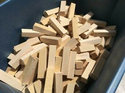 261 x 1 x 4 Solid Basswood Carving Turning Wood Blocks