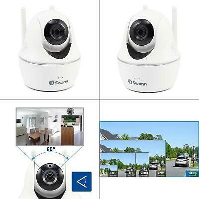 1080p full hd wi-fi pan and tilt wired white security camera | swann wireless