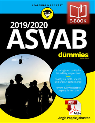 20192020 ASVAB For Dummies by Angie Papple Johnston Free Shipping⚡️🔥