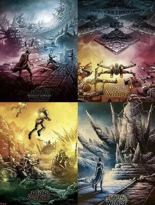 STAR WARS THE RISE OF SKYWALKER AMC IMAX Complete Set 1-4 Dan Mumford poster