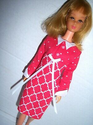 FOR Barbies cousin FRANCIE vintage inspired Reproduction Its a Date in RED