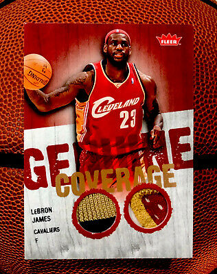 LEBRON JAMES 2008-09 FLEER GENUINE COVERAGE JERSEY PATCH 3 COLOR CAVALIERS