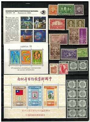 Lot of Worldwide Old Stamps MNHMHUsed
