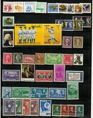 Lot of Worldwide Old Stamps MNHMHUsed-