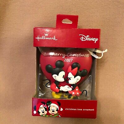 Love Mickey Mouse - Minnie Heart Shaped Ornament Valentine's Day Christmas gift
