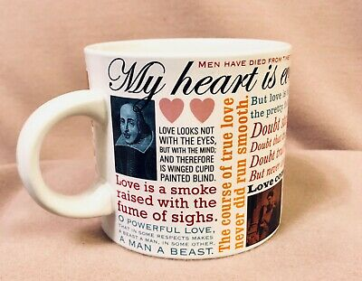 Shakespeare Quotes Love Mug Valentine Gift My Heart Is Ever At Your Service-