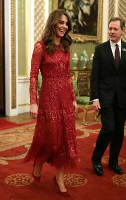 Kate Middleton SOLD OUT Needle and Thread Red Aurora Gown NWT