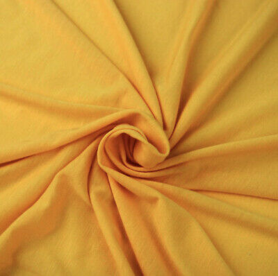 Cotton Lycra Spandex Knit Jersey by the yard -12 oz Yellow Golden