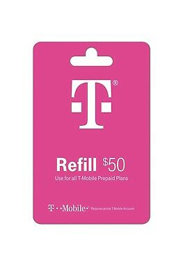 T-Mobile Prepaid Refill 50 Direct