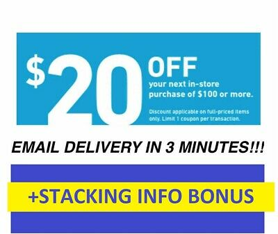 Expire 49 ONE 1X 20 OFF 100 LOWES 1Coupons -INSTORE -BONUS Stacking info