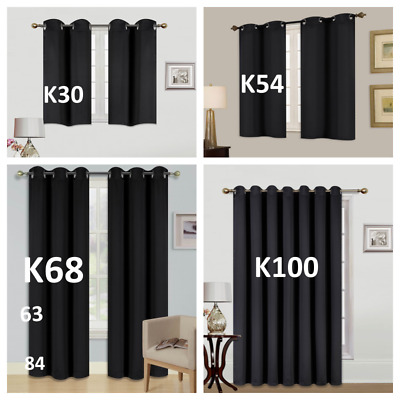 12PC100 BLACKOUT UNLINED HEAVY THICK THERMAL PANELS WINDOW CURTAIN TREATMENT
