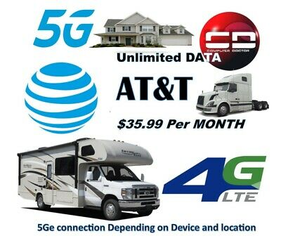 ATT Unlimited 4G LTE 5GE Hotspot data- For RVs Truckers and Rural area
