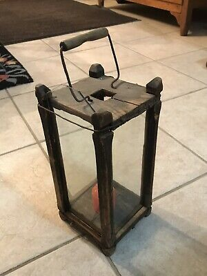 Antique Wooden Barn Lantern - 19th century