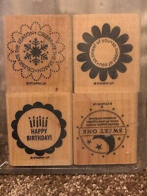 Stampin up So many scallops 4 piece wm set
