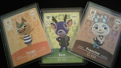 Animal Crossing Amiibo Card Series 3 Unscanned Individually Toploader - Sleeved
