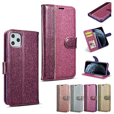 Bling Glitter Wallet Leather Flip Case Cover For iPhone 11 Pro  8 Plus XS Max XR