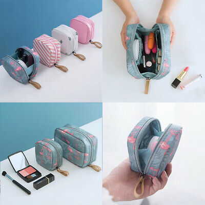 US Mini Travel Toiletry Storage Cosmetic Bag Beauty Zip Makeup Organizer Pouch
