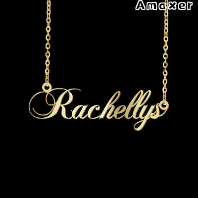 Personalized Custom Name Necklace Nameplate Letter Stainless Steel Pendant Gift