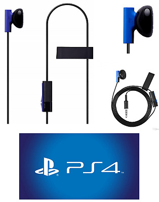 Sony Playstation 4 PS4 Mono Chat Earbud Headphone with Mic