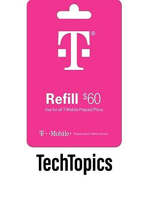 T-Mobile Prepaid 60 Refill Card Direct