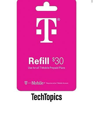 T-Mobile Prepaid 30 Refill Card Direct