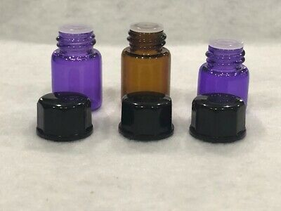 1-144 Pieces 1ML2ML Essential Oil Perfume Small Sample Glass Vials Bottles