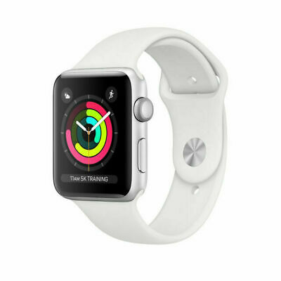 Apple Watch Series 3 38 mm Smartwatch GPS Only Silver Case White MTEY2LLA