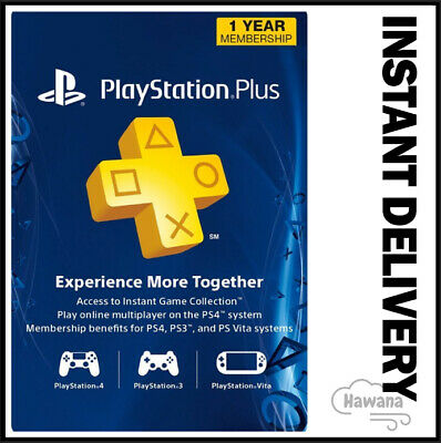 Sony PlayStation Plus 1 Year  12 Month Membership Subscription Code - PS  PSN