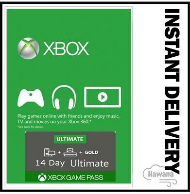 Xbox Live Gold - Game Pass Ultimate 14 Day 2 Weeks Trial Code