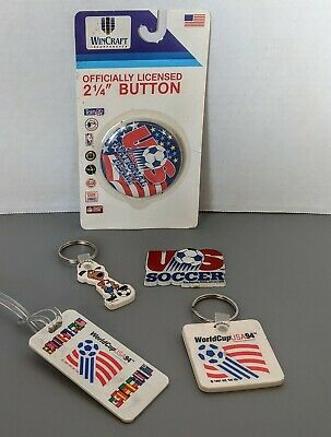 VTG FIFA Soccer World Cup USA 94 Souvenir Lot Pin Keychains Luggage Tag