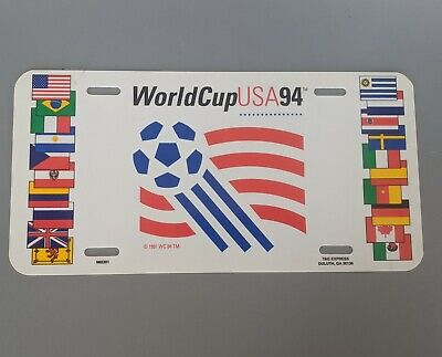 VTG FIFA World Cup USA Team Flags 1994 Collectible License Plate Sign Plastic
