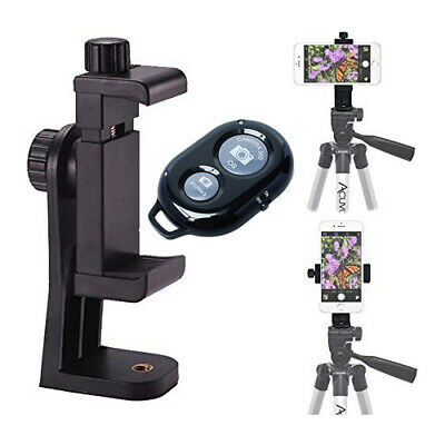 Rotating Smartphone Tripod Mount - Wireless Shutter for iPhone 11 Pro Max X S10