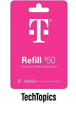 T-Mobile Prepaid 50 Refill Card Direct